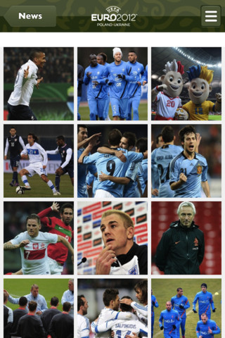 التطبيق الرسمي لبطولة أوروبا 2012 لكرة القدم للايفون والاندرويد