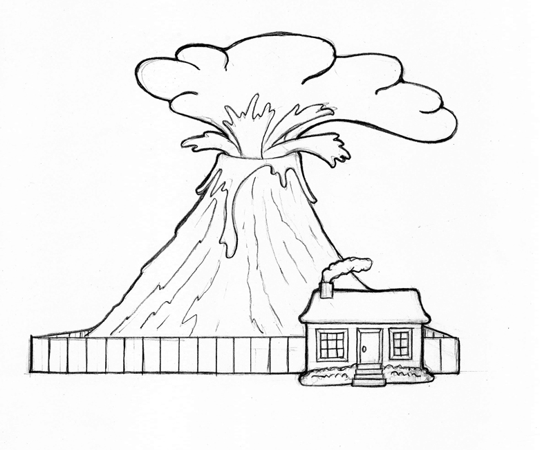 Volcano Coloring Pages printable coloring for kids