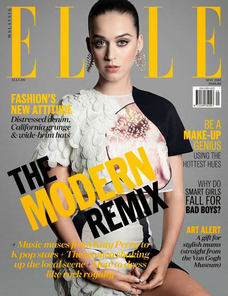 Musician, Actress @ Katy Perry - ELLE Malaysia, May 2015
