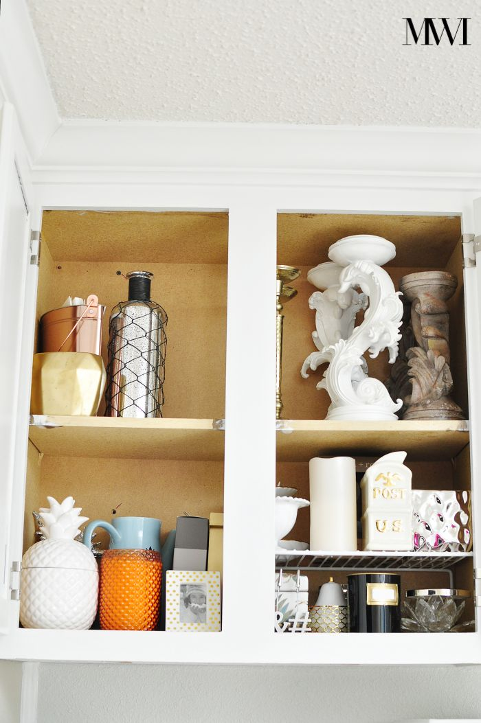 Use the KonMari Method to get rid of home decor/craft items that don't spark joy via monicawantsit.com