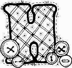 desenho de alfabeto de tecido e botoes para pintar letra H