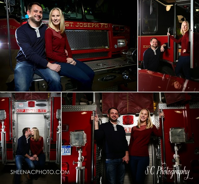 Michigan Fire Department Wedding Photography