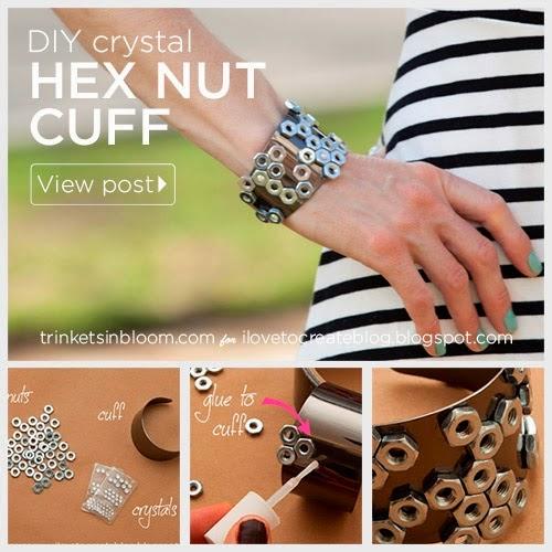 DIY Hex Nut Cuff