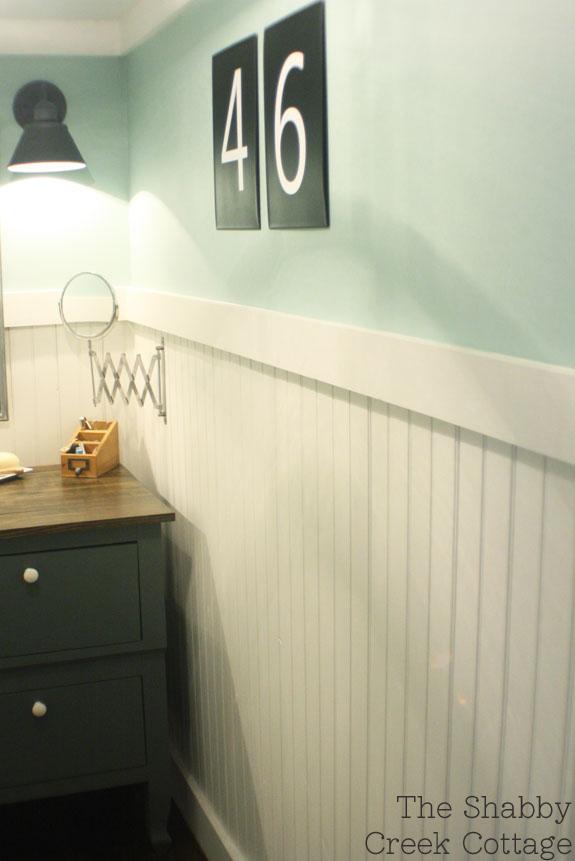 Bathroom Makeovers Using Beadboard bathroom makeover reveal - the shabby creek cottage