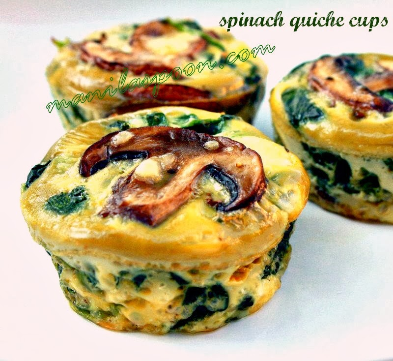 quiche wild mushroom and spinach lasagna mushroom and spinach cups