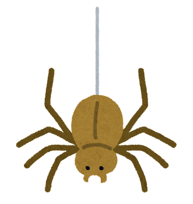 イラスト イラスト 無料 車 : ... にぶら下がった蜘蛛のイラスト
