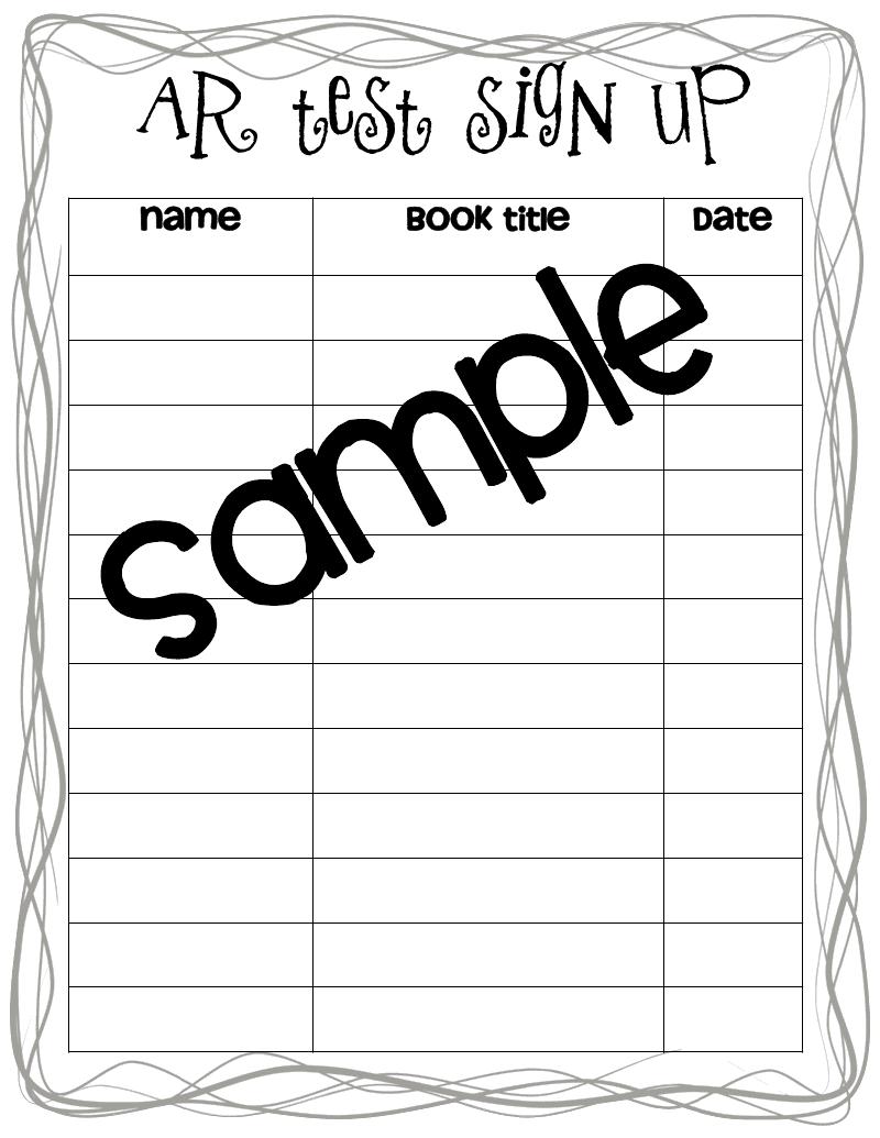 snack sign up sheet