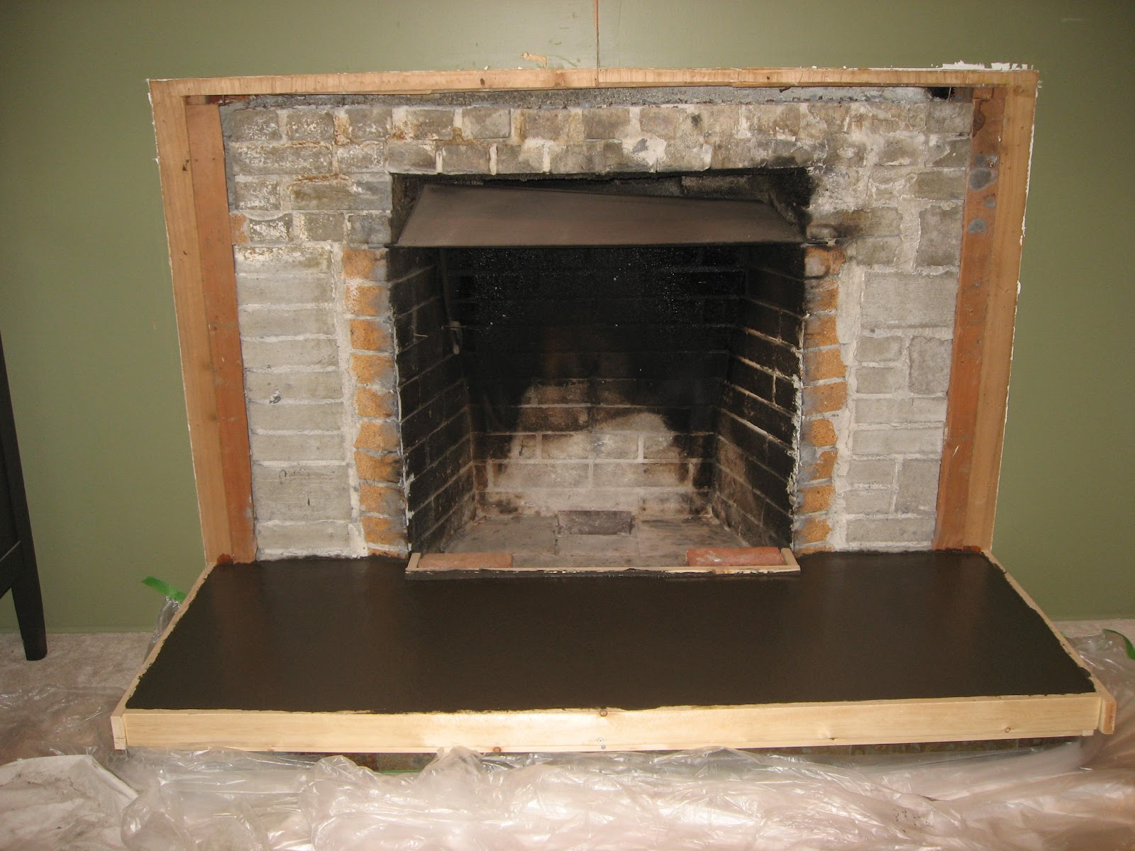 Heather's home improvements: Livingroom fireplace remodel