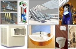 التركيبات الصحية والكهربائية في المباني المعمارية