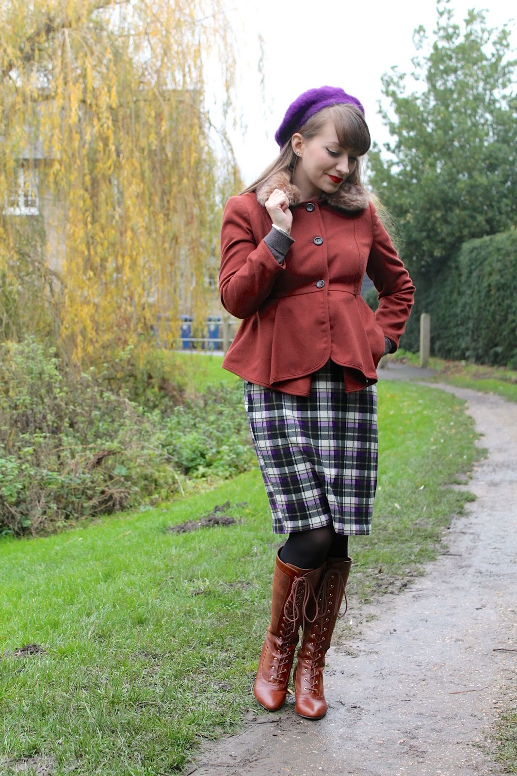 Vintage inspired winter outfit of all my favourites