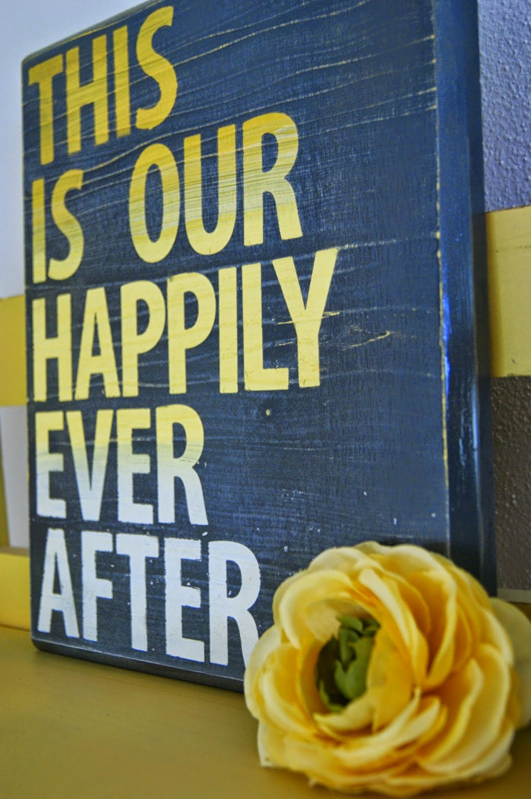 Wood Quote Sign on Diane's Vintage Zest!