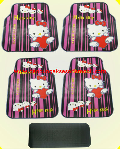 Karpet Hello Kitty Garis Pink