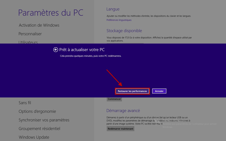 Club windows 8 actualiser votre pc windows 8 sans - Performances du bureau pour windows aero ...