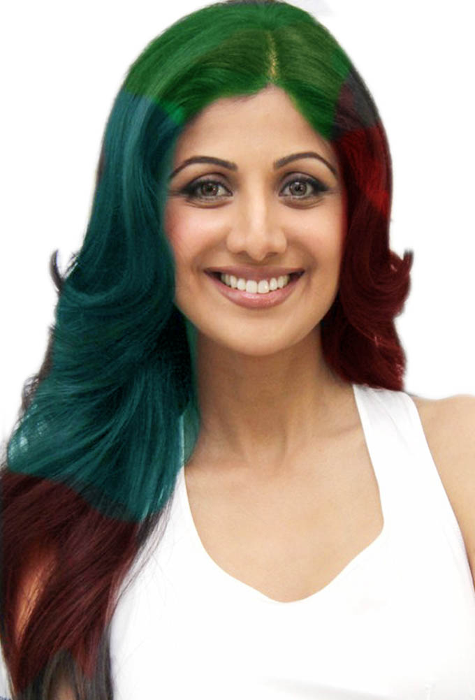 ... Guide and Photo: Colorful funky hairstyles for long straight hair