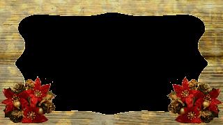 Moldura Wood Ouro e buquet vermelho_16x9 png