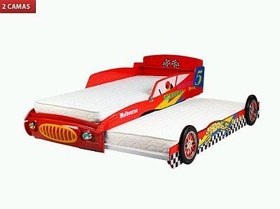 cama para nios auto con dos camas with cama para nio de aos