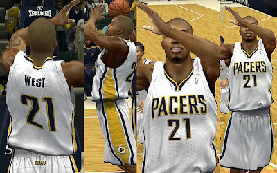 NBA 2K13 Indiana Pacers Home Jersey Patch