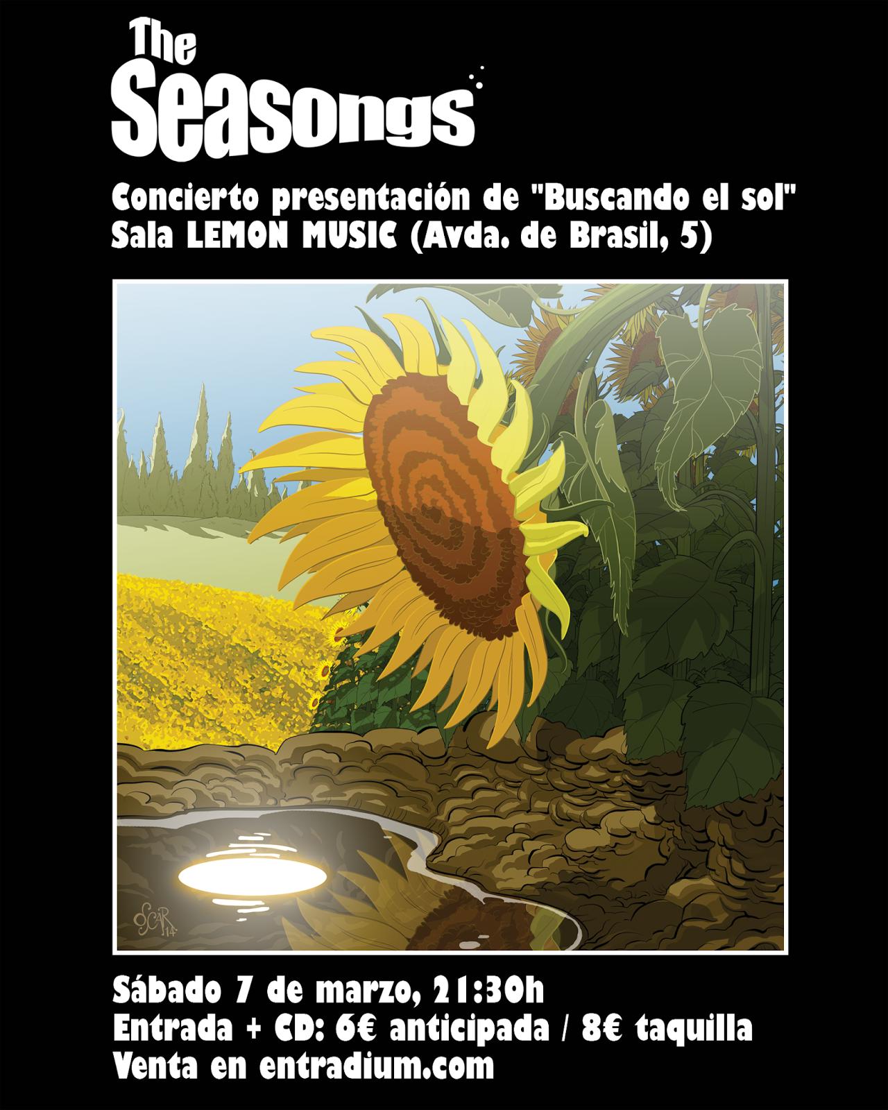 """presentación del  nuevo disco de The Seasongs llamado """"Buscando el sol""""."""