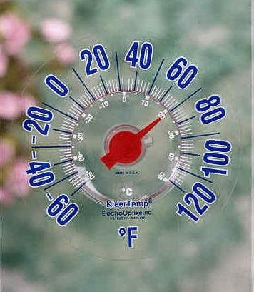 Analog outdoor thermometer