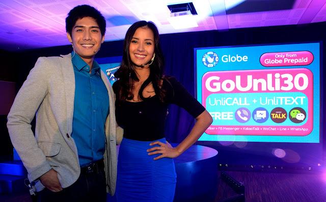Globe Telecom Ambassadors Robi Domingo and Bianca Gonzalez