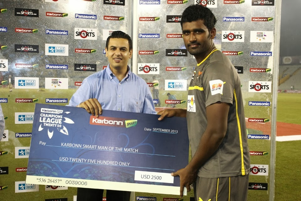 Thisara-Perera-Ma-of-the-Match-Trinidad-and-Tobago-vs-Sunrisers-Hyderabad-M7-CLT20-2013