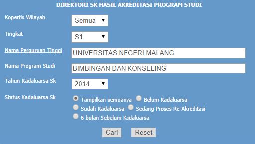 BAN-PT ~ Melihat Akreditasi Perguruan Tinggi 2
