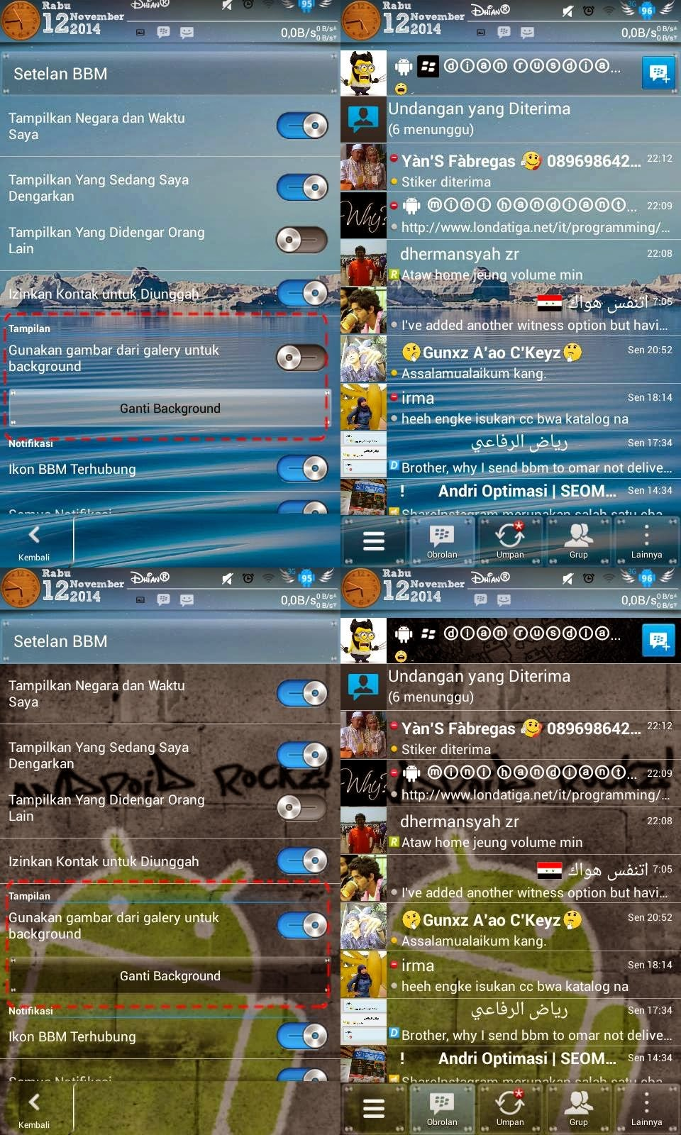 BBM Mod Transparan Change Background