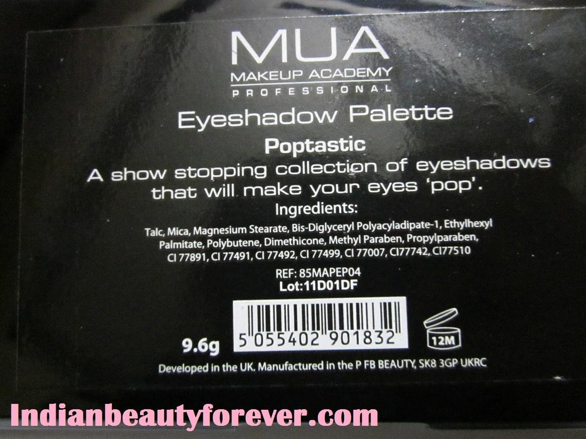 MUA (Makeup Academy) palette Poptastic Review