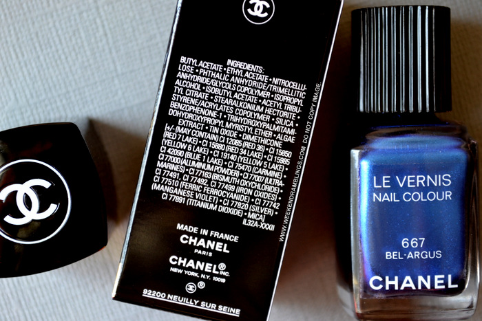 LEte Papillon de Chanel Makeup Collection Summer 2013 Le Vernis Nail Polish Lacquer Bel Argus 667 Indian Darker Skin Beauty Blog Swatches Photos Review NOTD Ingredients