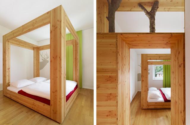 Durmiendo entre los rboles del bosque espacios en madera - Muebles de madera a medida ...