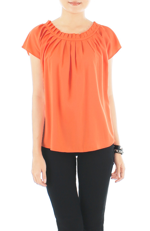 Endless Weekend Pleat Top – Citrus