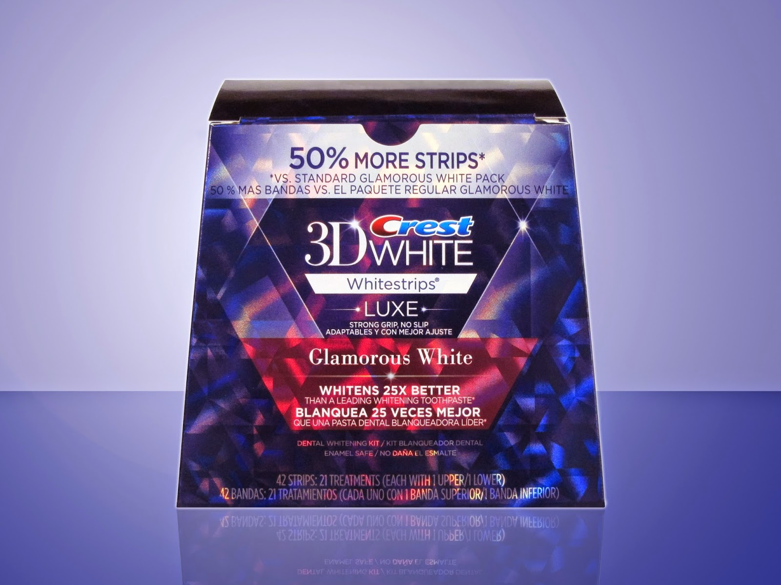 Crest 3D White Luxe Whitestrips folding carton