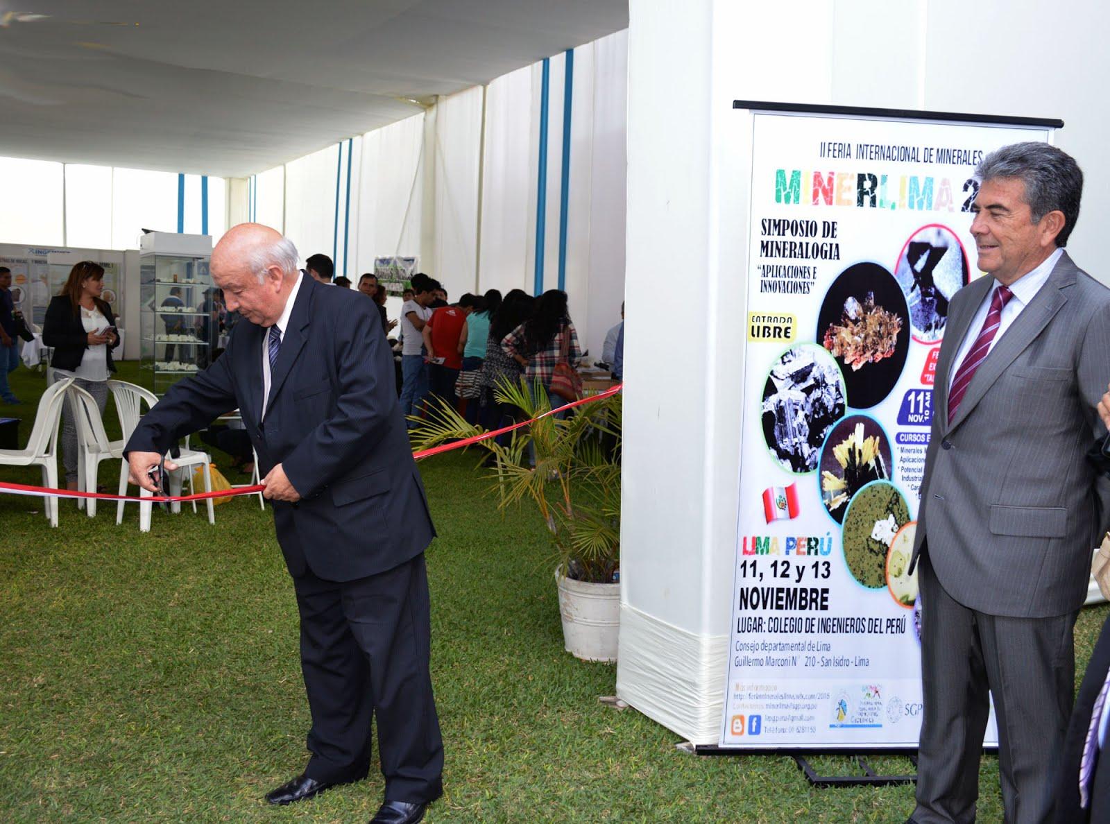 VIDEOS-FOTOS: MINERLIMA 2016 EN EL COLEGIO DE INGENIEROS-CONSEJO DEPARTAMENTAL DE LIMA