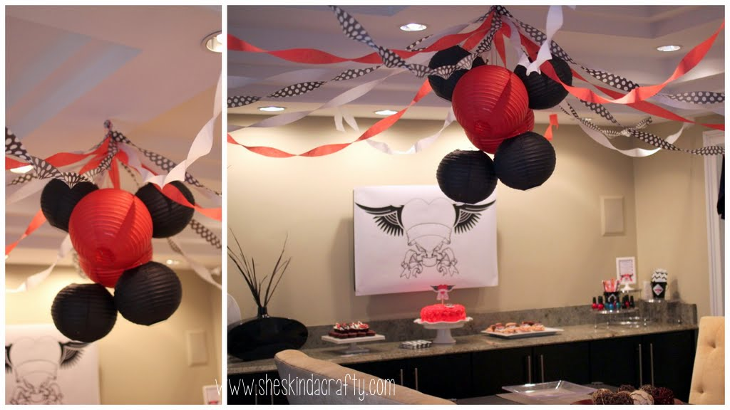 Baby Shower - Red & Black {Tattoos} - Shes {kinda} Crafty