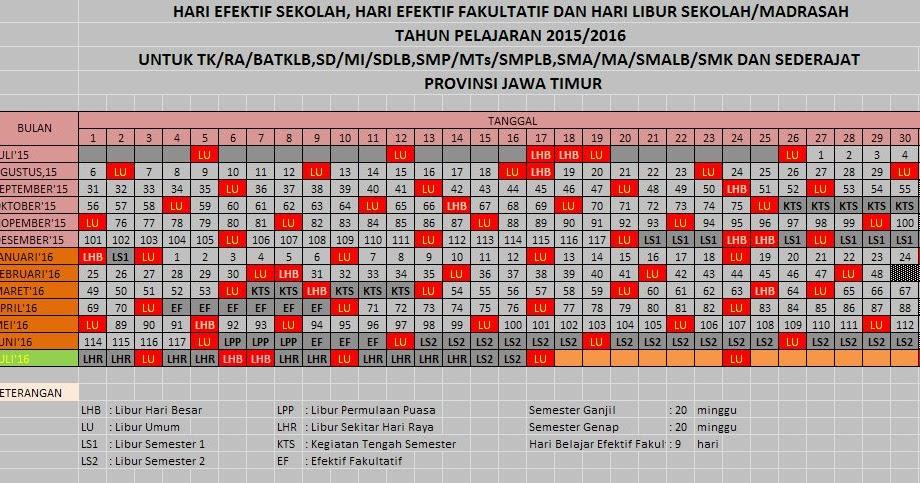 Kalender Akademik 2015 2016 Berbagai Provinsi