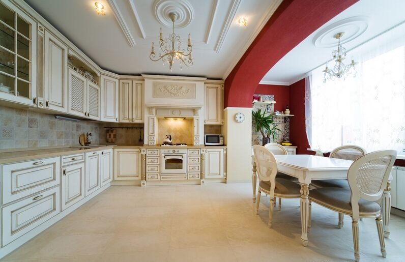 White Cabinet Kitchen Design