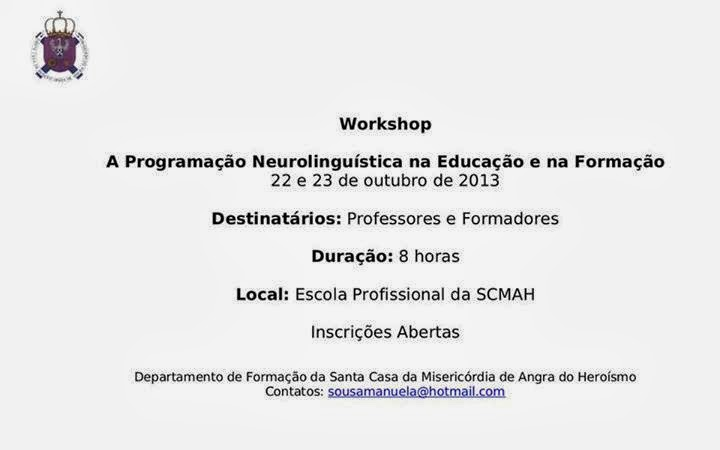 Workshop para professores / formadores em Angra do Heroísmo