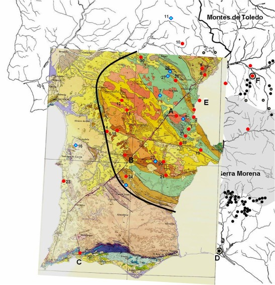 Portuguese Prehistoric Enclosures Geology And Enclosures - Portugal geology map