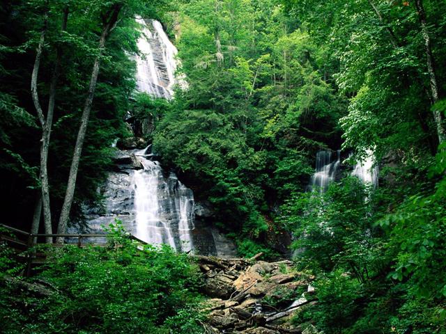 США,Теннеси,Руби Фоллс,водопад