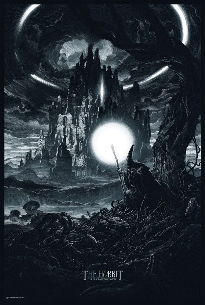 The Hobbit: The Desolation of Smaug Variant Screen Print by Nicolas Delort