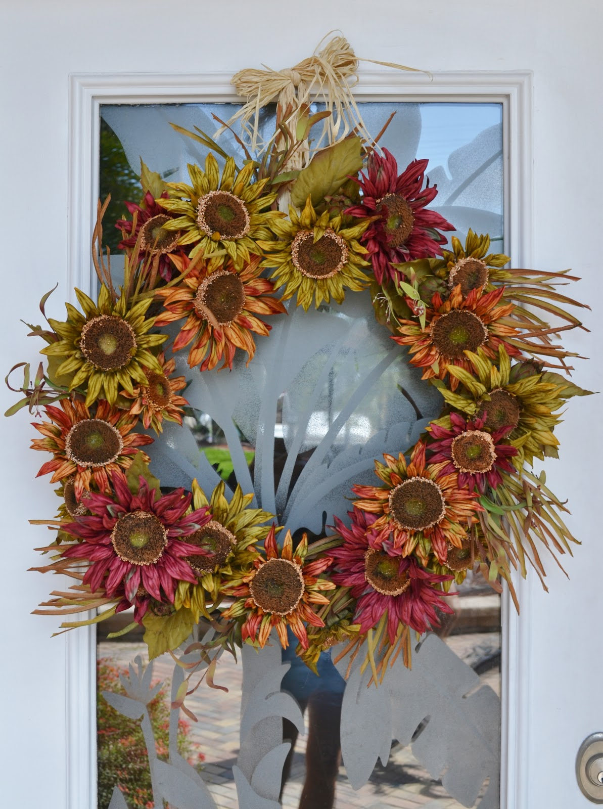 the homeless finch september and my new front door wreath