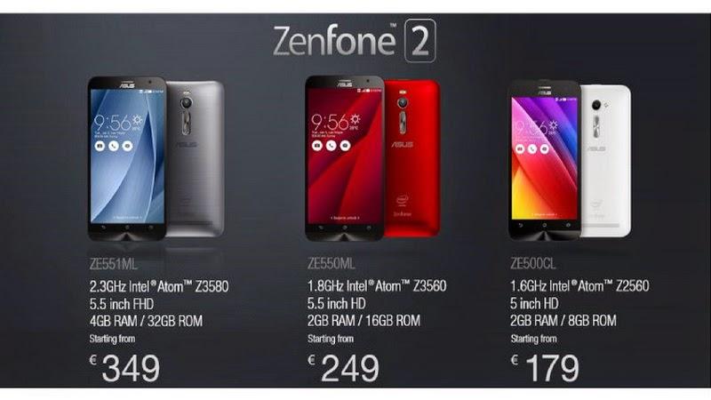 Asus Luncurkan Zenfone 2 dengan RAM 4GB