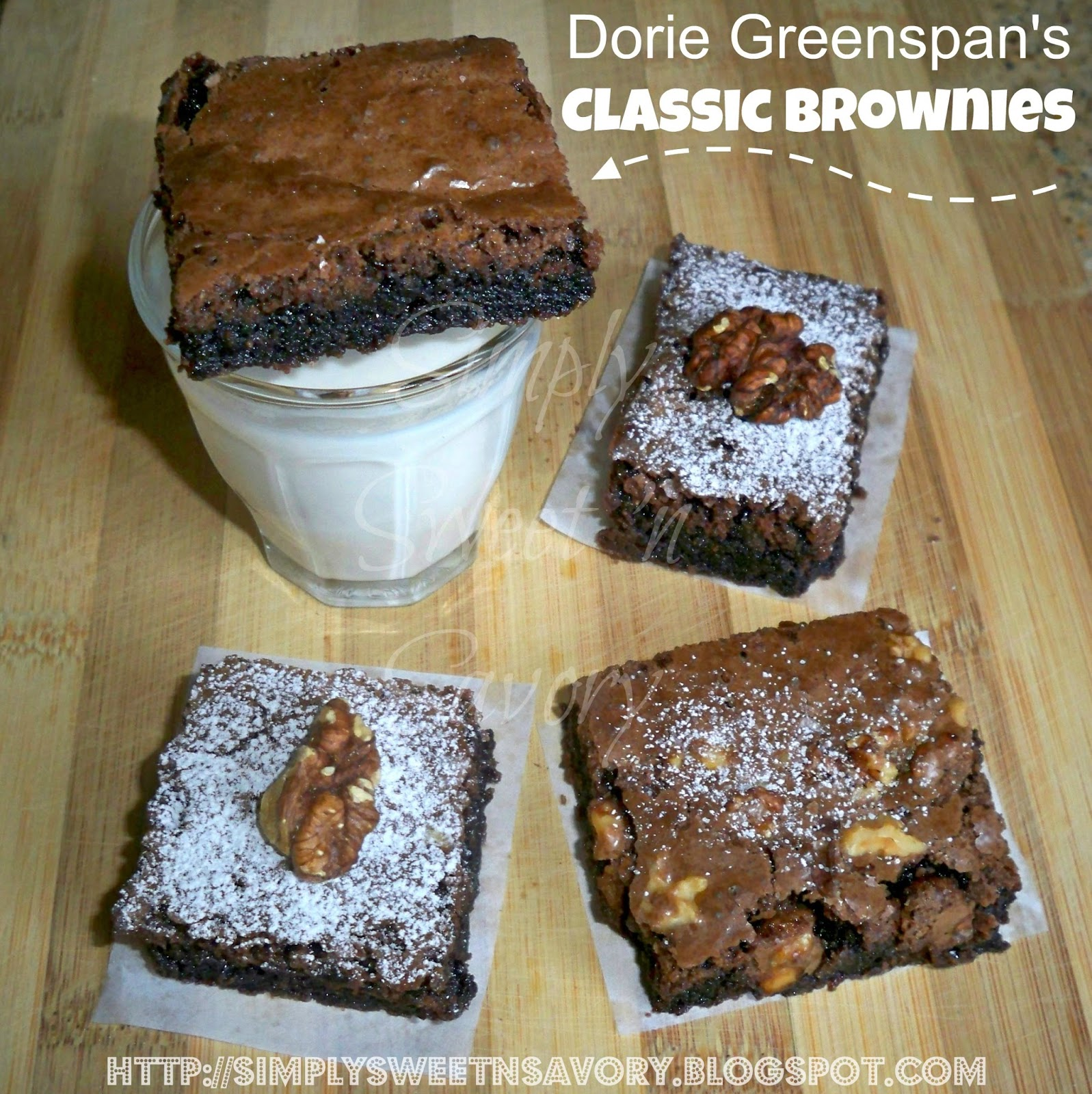Simply Sweet 'n Savory: Dorie Greenspan's Classic Brownies