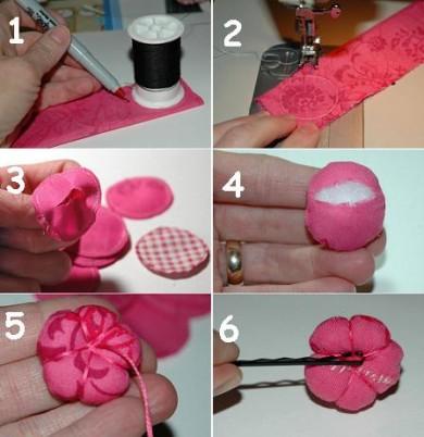 Cosasdechicas - Flores de telas hechas a mano ...