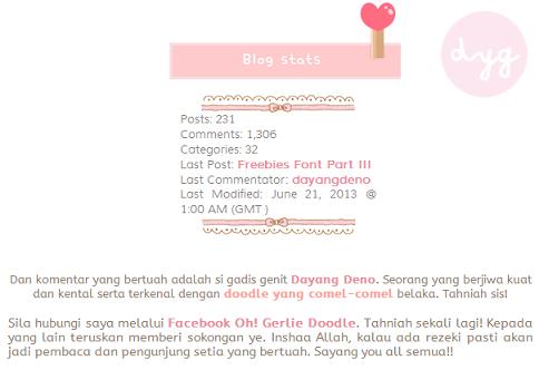 Komentar Bertuah Blog Pink Pastel Doodle