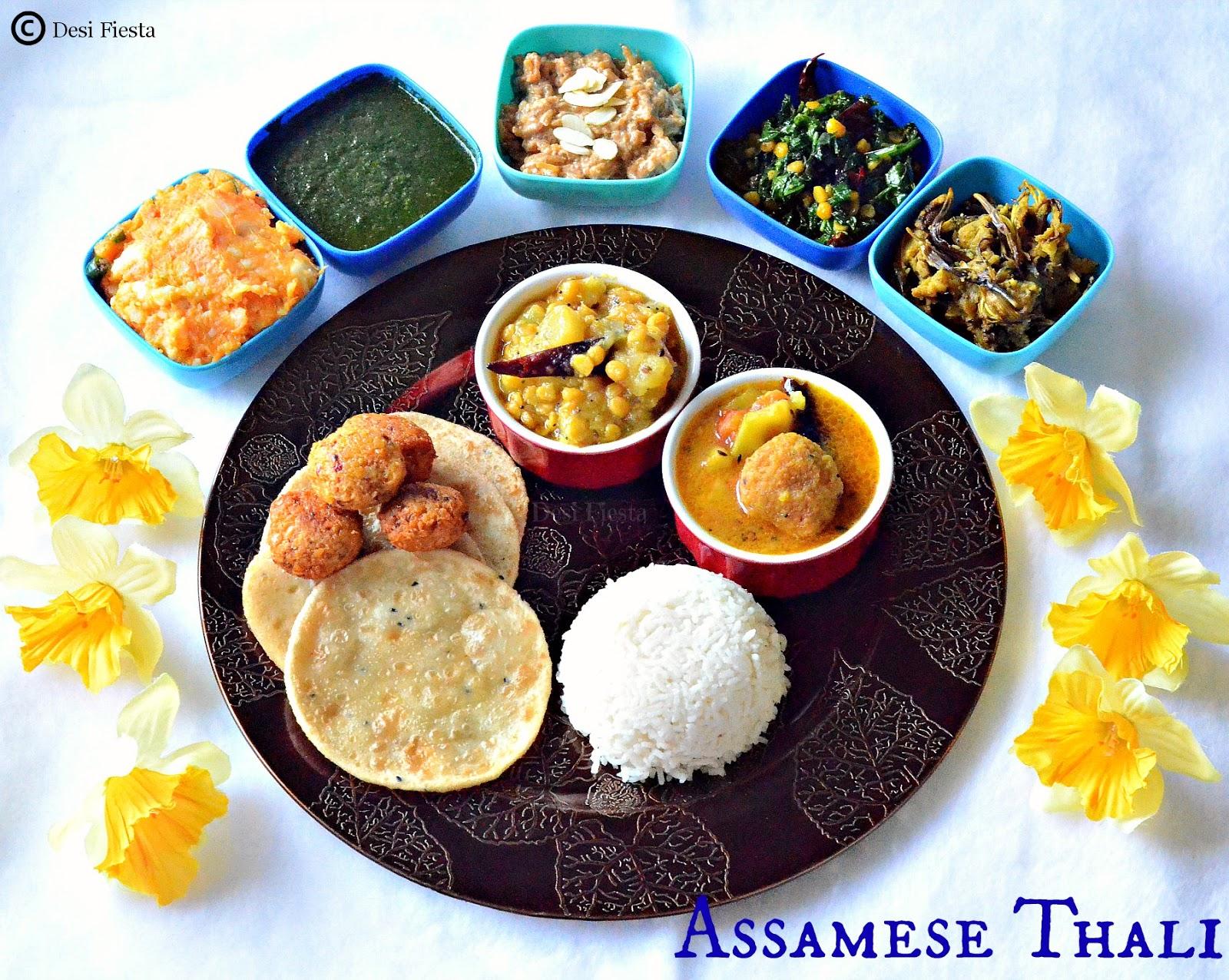 Desi fiesta assamese thali aalohir exaj assamese for Arunachal pradesh cuisine