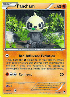 Pancham Furious Fists Pokemon Card