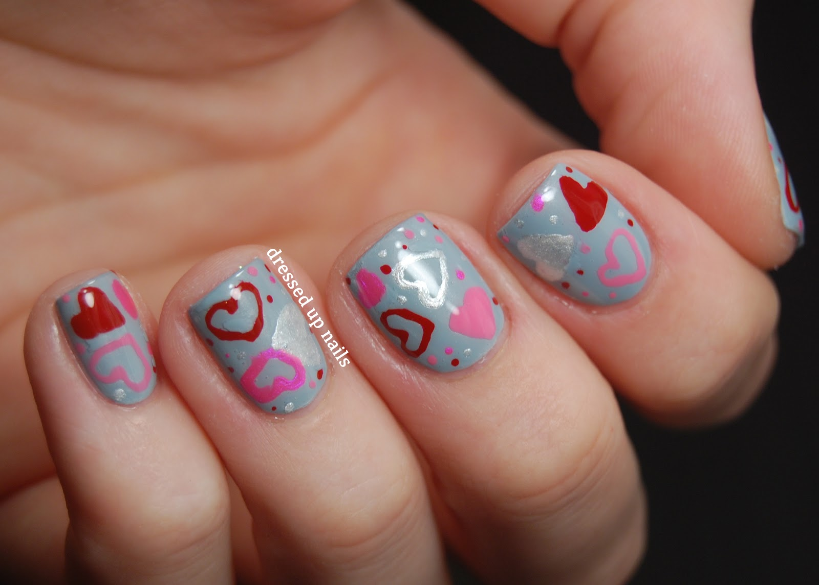 Valentine's Day Heart Nail Designs HD Wallpaper
