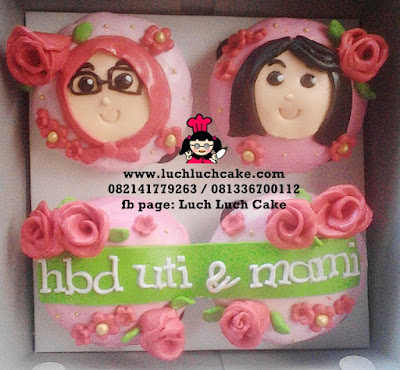 Cupcake 2D Fondant Untuk Mama
