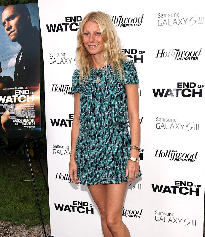 Gwyneth Paltrow wearing a green dress